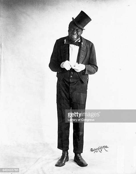 Vaudeville comedian and singer. Bert Williams, in blackface, circa 1910.