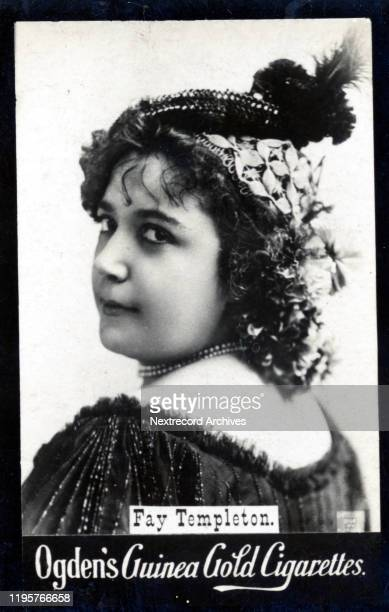 Vaudeville stage actress Fay Templeton depicted on collectible tobacco card from circa 18941907 Ogden's Guinea Gold Cigarettes from England In the...