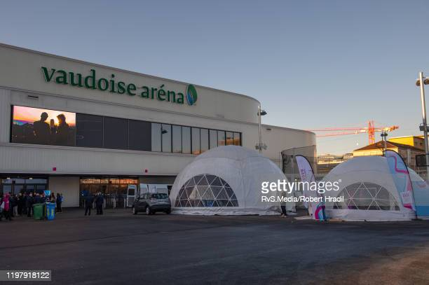 Vaudoise Arena is being prepared prior the 2020 Winter Youth Olympic Games officially known as the III Winter Youth Olympic Games and commonly known...