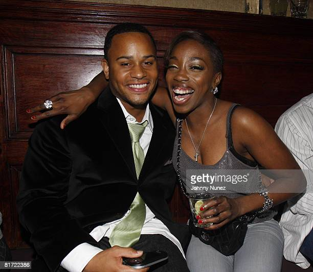 Vaughn Anthony and Estelle attend Vaughn Anthony's Birthday Bash Hosted by John Legend on May 22 2008 in New York City