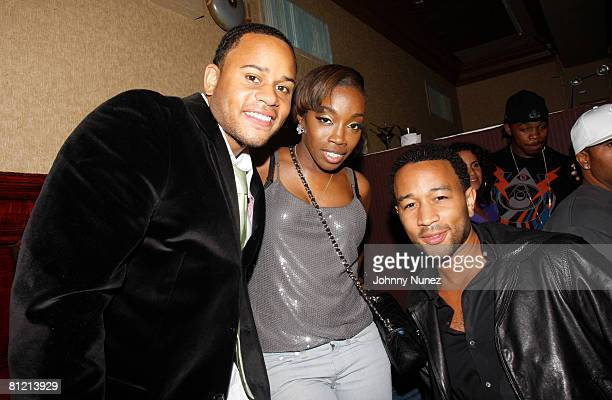 Vaughn Anthony Estelle and John Legend attend Vaughn Anthony's Birthday Bash Hosted by John Legend on May 22 2008 in New York City