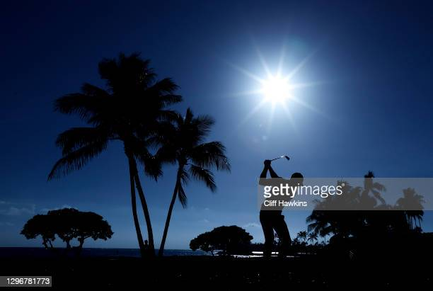 Vaughn Taylor of the United States plays his shot from the 17th tee during the third round of the Sony Open in Hawaii at the Waialae Country Club on...