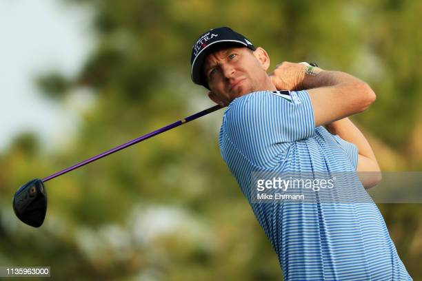 Vaughn Taylor of the United States plays his shot from the fourth tee during the second round of The PLAYERS Championship on The Stadium Course at...