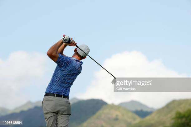 Vaughn Taylor of the United States plays his shot from the seventh tee during the second round of the Sony Open in Hawaii at the Waialae Country Club...