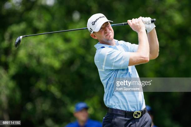 Vaughn Taylor plays his shot from the 9th tee during the third round of the PGA Dean Deluca Invitational on May 27 2017 at Colonial Country Club in...