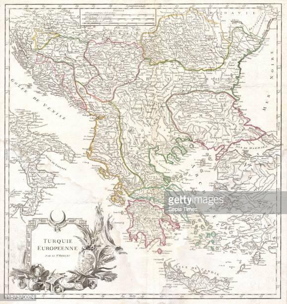 Vaugondy Map of Greece, Macedonia and Albania