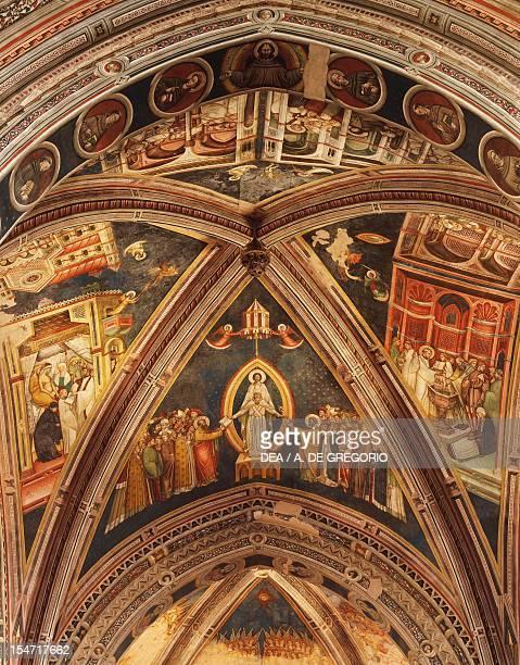 Vault frescoes, Basilica of Santa Caterina d'Alessandria, Galatina, Apulia. Italy, 15th century.