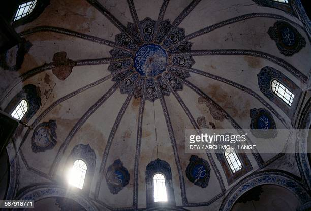 Vault of the former Church of the Saints Sergius and Bacchus converted into the Kucuk Ayasofya Camii mosque in the 16th century Istanbul Turchia