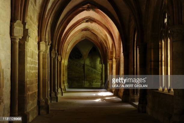 Vault with lancet arches in the monastery, Maulbronn Monastery Complex , Baden-Wurttemberg, Germany.