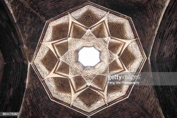 Vaulted ceiling, Jameh Mosque, Isfahan, Iran