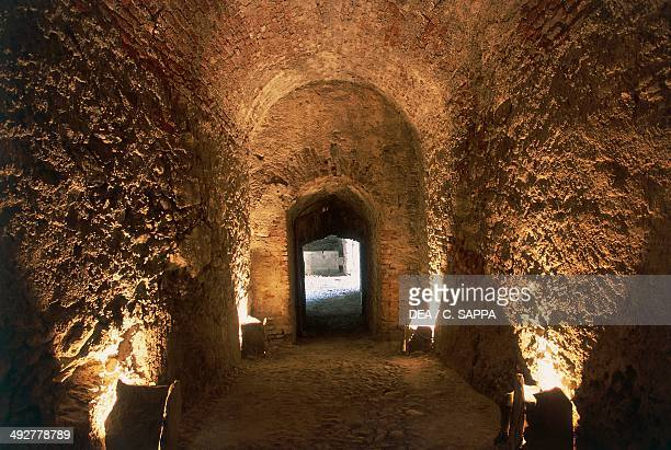 Vaulted ceilings Exilles fortress 14th19th century Susa Valley Piedmont Italy