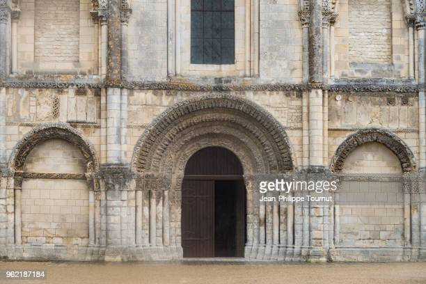 Vaulted door of the Abbatial Church of the Abbey of Sainte-Marie-des-Dames in Saintes, France