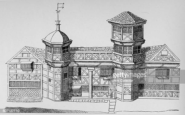 Vaux Hall Manor House' c1813 Manor House Vauxhall shown as it stood in 1644 the site is now occupied by the MI6 building From London South of the...