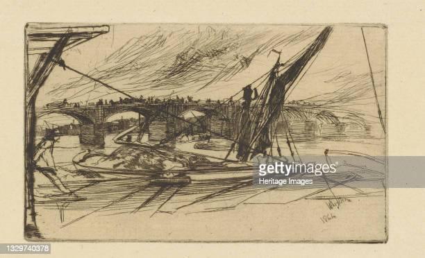 Vauxhall Bridge, 1861. Artist James Abbott McNeill Whistler.