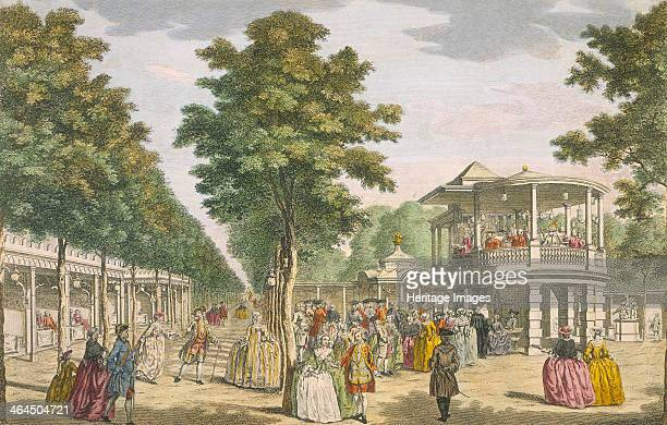 Vauxhall Gardens, Lambeth, 18th century. By the late 1700s there were over 200 pleasure gardens in and around London, one of which was Vauxhall...