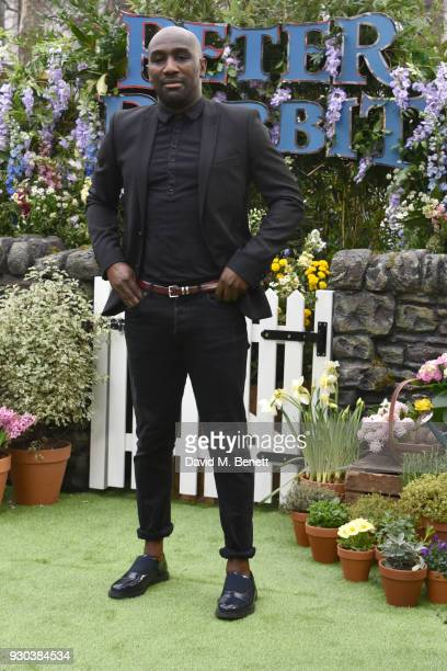 Vauxhall Jermaine attends the UK Gala Premiere of 'Peter Rabbit' at the Vue West End on March 11 2018 in London England