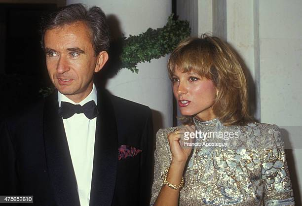 VauxleVicomte France 09/09/91French businessman Bernard Arnault and his wife Helene Mercier Arnault attend the Dior Gala at the VauxleVicomte castle
