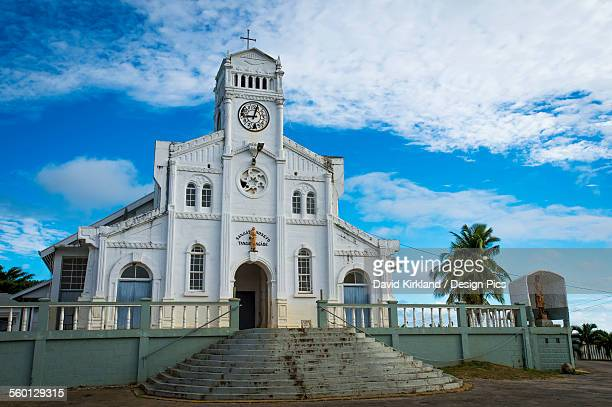 vavau church - tonga stock pictures, royalty-free photos & images