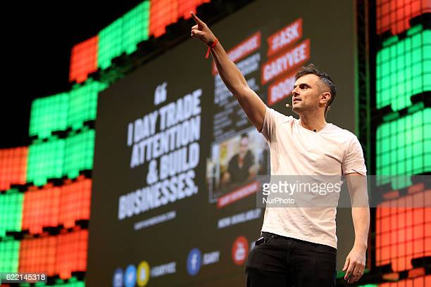 VaynerMedia's Founder amp CEO Gary Vaynerchuk speaks during the Web Summit in Lisbon Portugal on November 10 2016 Photo Pedro Fiuza