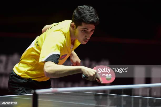 "Vazir Allahverdiyev of Azebaijan ""n in action during the Table Tennis World Championship at Messe Duesseldorf on May 29, 2017 in Dusseldorf, Germany."