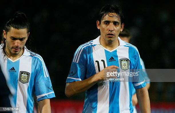 Víctor Zapata from Argentina during the first match of the Superclasico de la Americas at Mario Alberto Kempes stadium on September 14 2011 in...