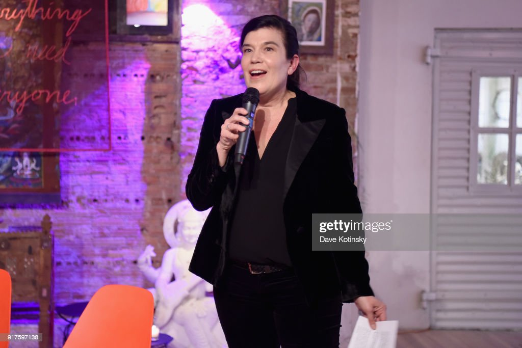 V-Day Executive Director, Board Member and V20 Chair, Susan Celia Swan speaks onstage during V20: My Revolution Lives In This Body activist evening, a V-Day 20th anniversary event at ABC Carpet on February 12, 2018 in New York City.