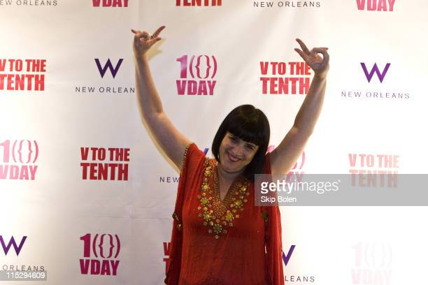 VDay Founder and The Vagina Monologues playwright Eve Ensler attends the V TO THE TENTH After Party at the W Hotel New Orleans on April 12 2008 in...