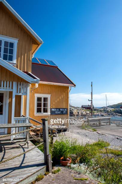 Väderöarnas Värdshus a guesthouse on the Weather Islands a clutch of barefaced rocks in the Bohuslän Archipelago West Sweden The islands served as a...