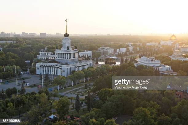 VDNKh Park from above, Moscow