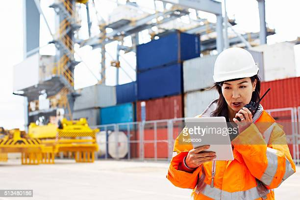 i've got the manifest, you're clear to dock - construction platform stock photos and pictures