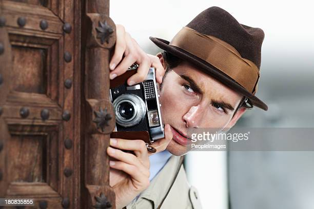 i've got to get that shot... - detective stock pictures, royalty-free photos & images
