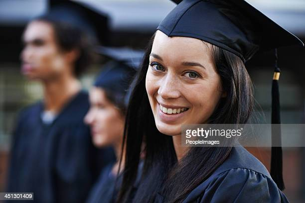 i've waited for this day... - diploma stock photos and pictures