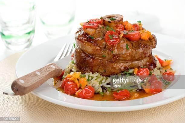 Osso Buco de veau avec riz et légumes