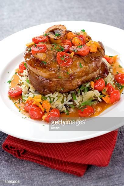 Jarret de veau et le dîner