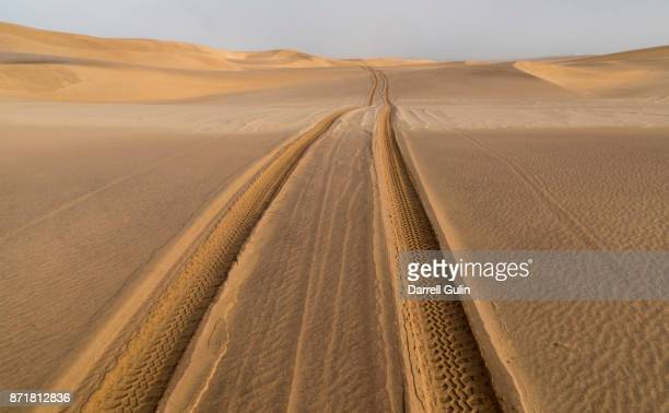 Vechile tracks in sand