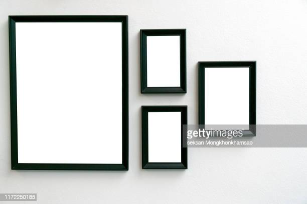 vector black picture frame set isolated on white background - vector illustrations stock pictures, royalty-free photos & images
