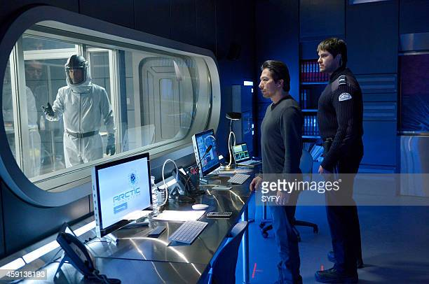 HELIX 'Vector' Episode 102 Pictured Billy Campbell as Dr Alan Farragut Hiroyuki Sanada as Dr Hiroshi Hataki Meegwun Fairbrother as Daniel Aerov