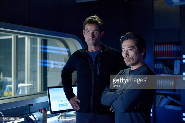 HELIX 'Vector' Episode 102 Pictured Billy Campbell as Dr Alan Farragut Hiroyuki Sanada as Dr Hiroshi Hataki