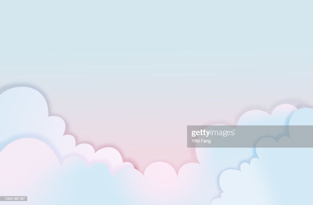 Vector illustration of clouds : Stock Photo