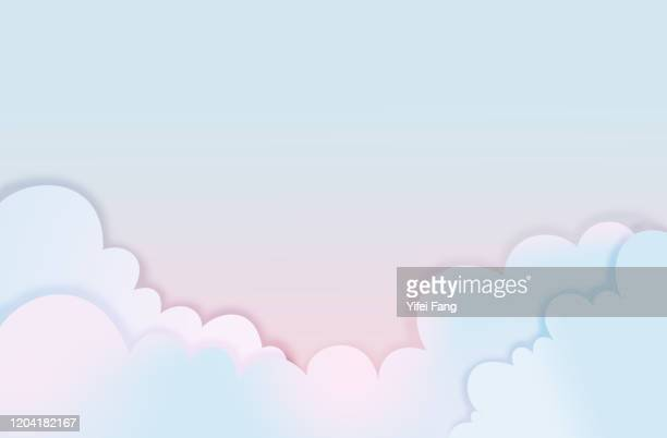 vector illustration of clouds - banner vector stock pictures, royalty-free photos & images