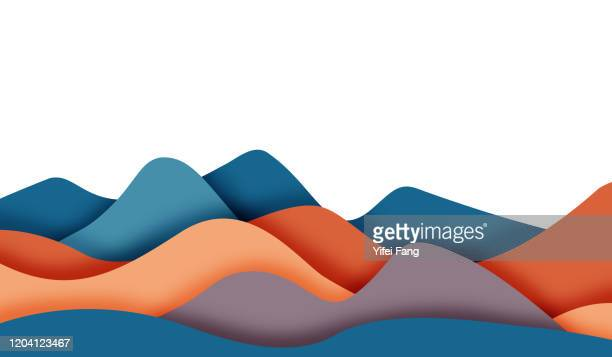vector illustration of mountain waves - vector illustrations stock pictures, royalty-free photos & images