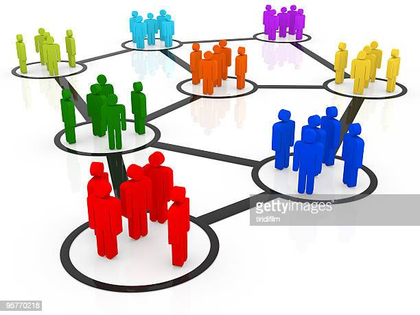 a vector illustration of networking people - vector illustrations stock pictures, royalty-free photos & images