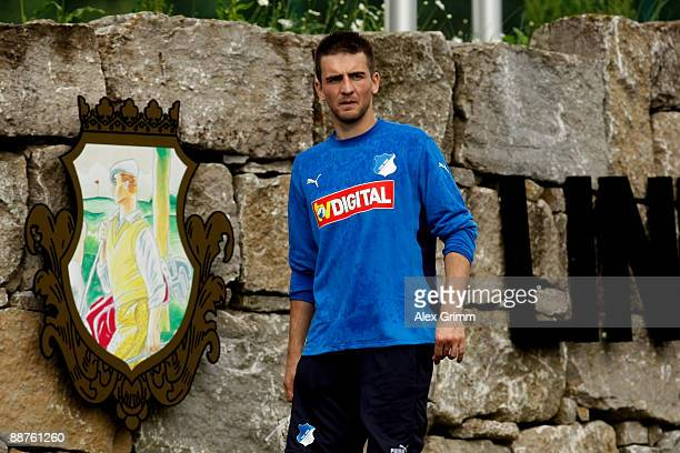 Vedad Ibisevic leaves after a training session of 1899 Hoffenheim during a training camp on June 30, 2009 in Stahlhofen am Wiesensee, Germany.