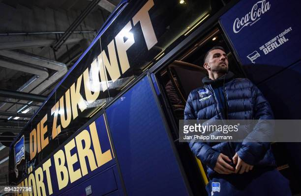 Vedad Ibisevic of Hertha BSC before the game between RB Leipzig and Hertha BSC on december 17 2017 in Leipzig Germany