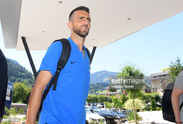 Vedad Ibisevic of Hertha BSC during a training camp on July 31 2017 in Schladming Austria