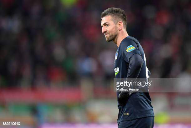 Vedad Ibisevic of Hertha BSC during the Bundesliga match between FC Augsburg and Hertha BSC on December 10 2017 in Augsburg Germany