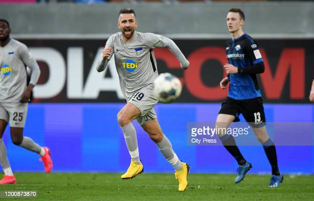 Vedad Ibisevic of Hertha BSC during the game between the SC Paderborn 07 against Hertha BSC on february 15 2020 in Paderborn Germany