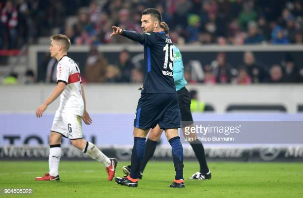 Vedad Ibisevic of Hertha BSC during the game between VfB Stuttgart and Hertha BSC on January 13 2018 in Stuttgart Germany