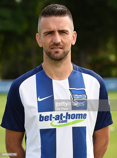 Vedad Ibisevic of Hertha BSC during the team presentation of Hertha BSC on July 12 2016 in Berlin Germany