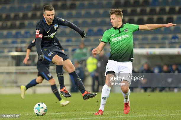 Vedad Ibisevic of Hertha controls the ball during the HHotelscom Wintercup match between Hertha BSC and Hannover 96 at SchuecoArena on January 6 2018...